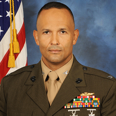 "Col Luis ""Lou"" Lara, USMC, Marine Corps Systems Command Program Manager, Training Systems"